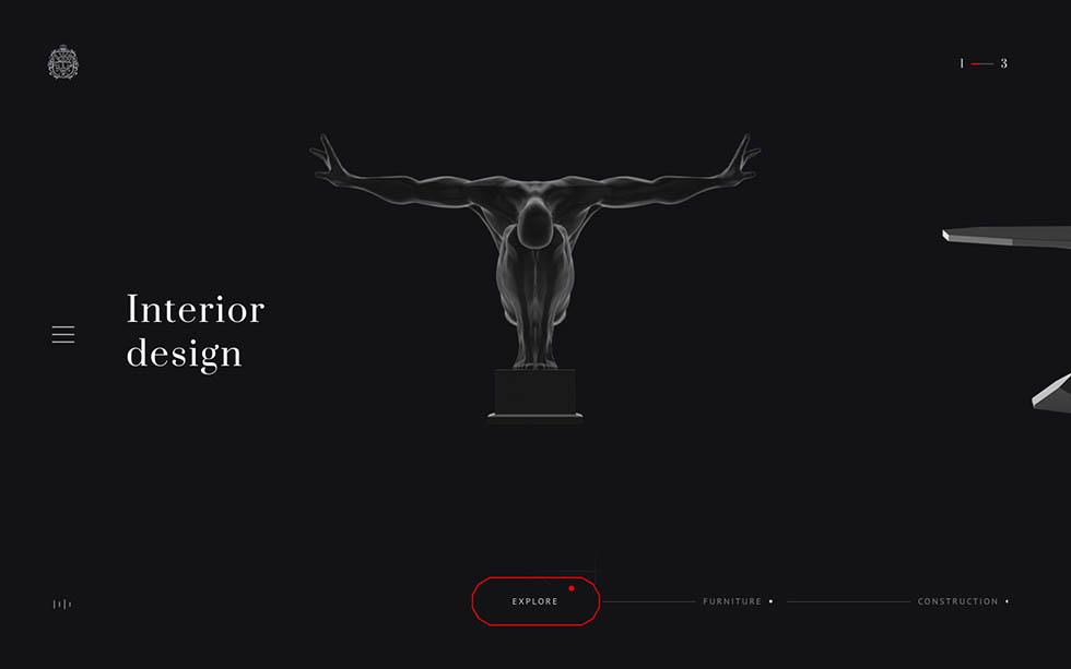 Неоклассицизм в дизайне при создании сайта