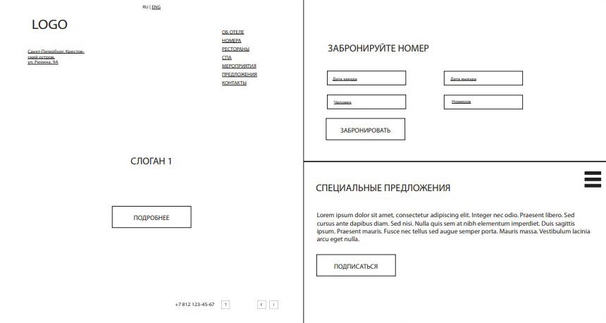Проект интерфейса Рarklane на движке для сайтов UMI.CMS