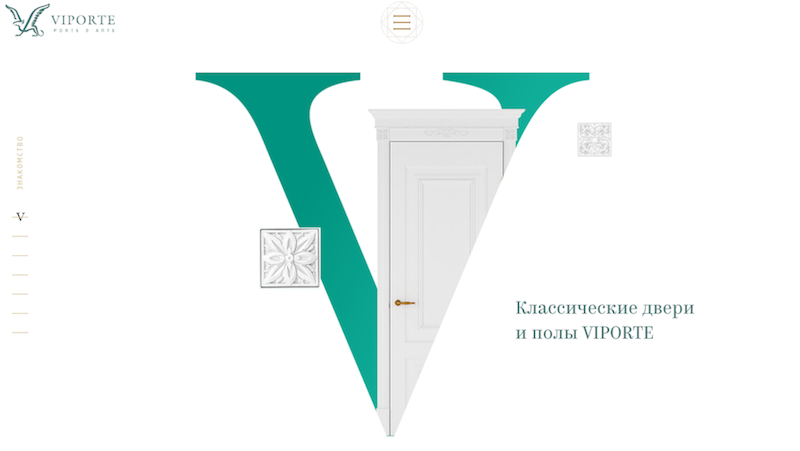 Главная страница сайта Viporte на движке UMI.CMS