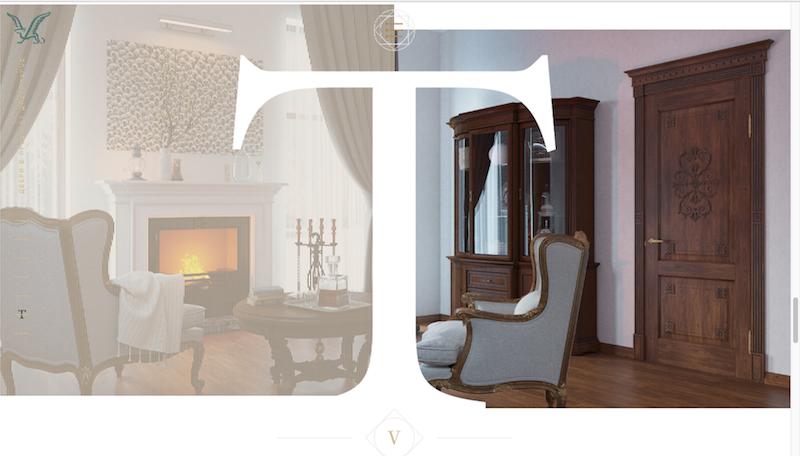 Элементы дизайна сайта Viporte, разработанного на UMI.CMS