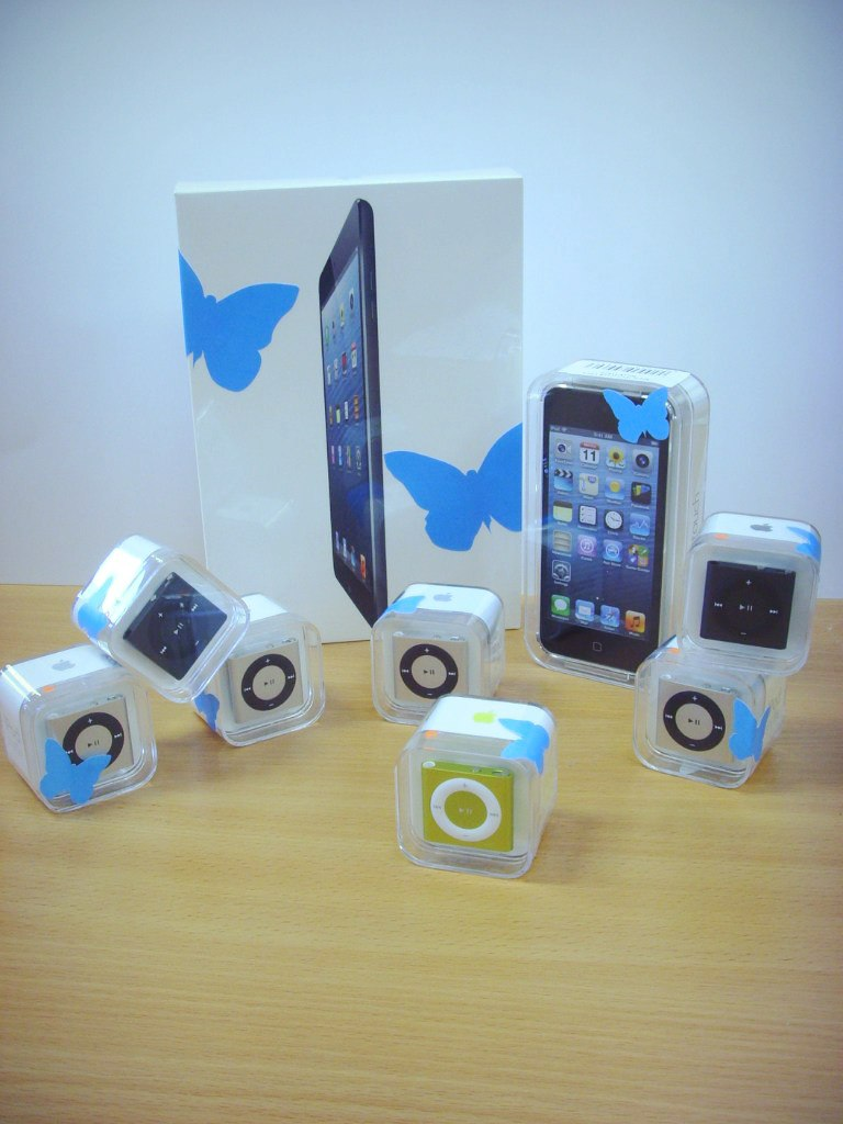 iPad mini, iPod touch и iPad shuffle