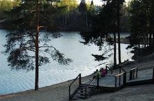 Фотография озера в загородном отеле Raivola